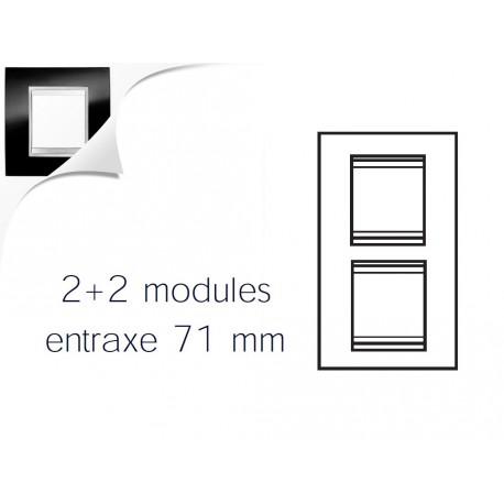 Plaque lux 4m 2+2 vertical 71 ardoise Gewiss chorus