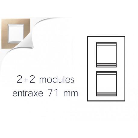 Plaque lux 4m 2+2 vertical 71 erable Gewiss chorus