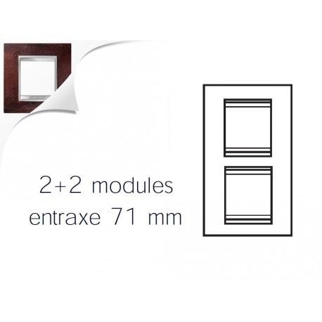 Plaque lux 4m 2+2 vertical 71 fer oxyde Gewiss chorus