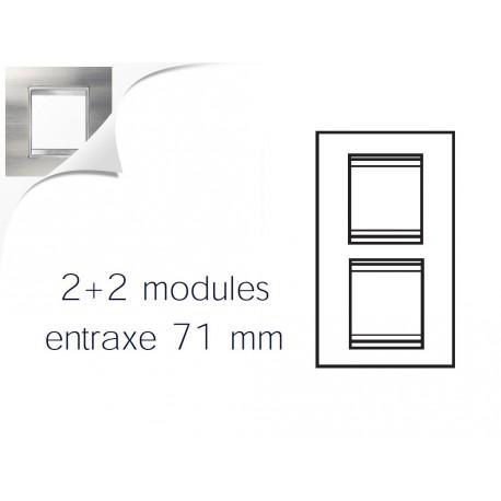 Plaque lux 4m 2+2 vertical 71 inox brosse Gewiss chorus