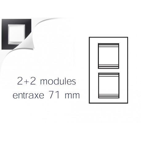 Plaque lux 4m 2+2 vertical 71 noir toner Gewiss chorus