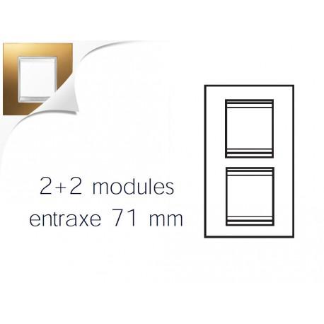 Plaque lux 4m 2+2 vertical 71 or Gewiss chorus