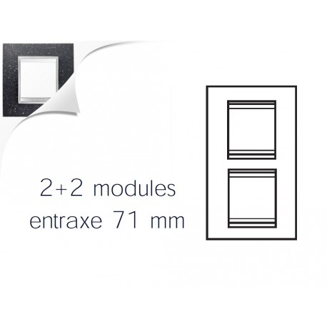 Plaque lux 4m 2+2 vertical 71 pierre lave Gewiss chorus