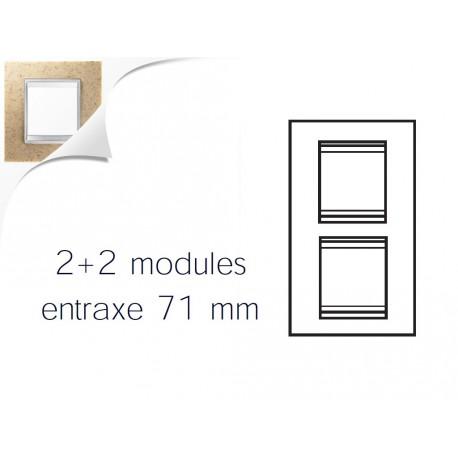 Plaque lux 4m 2+2 vertical 71 pierre sable Gewiss chorus