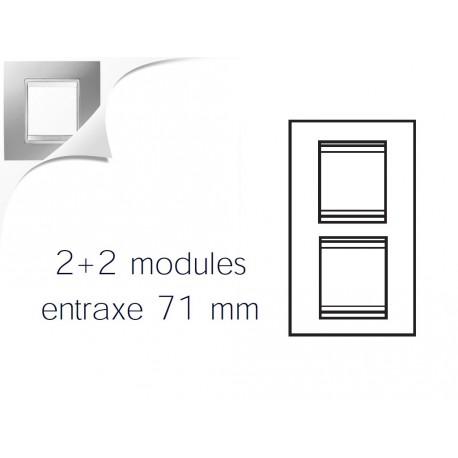Plaque lux 4m 2+2 vertical 71 titane Gewiss chorus