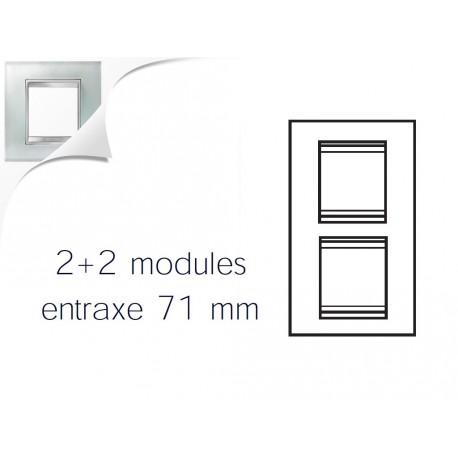 Plaque lux 4m 2+2 vertical 71 verre glace Gewiss chorus