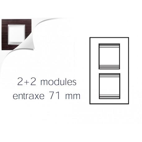 Plaque lux 4m 2+2 vertical 71 wengue Gewiss chorus