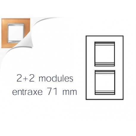 Plaque lux 4m 2+2 vertical 71 verre ocre Gewiss chorus