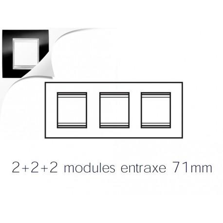 Plaque lux 6m 2+2+2 horizontal ardoise Gewiss chorus