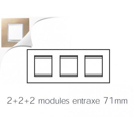 Plaque lux 6m 2+2+2 horizontal erable Gewiss chorus