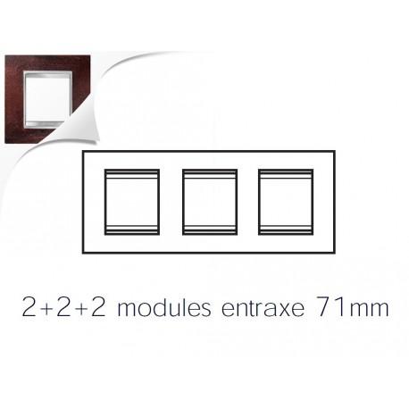 Plaque lux 6m 2+2+2 horizontal fer oxyde Gewiss chorus
