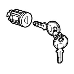 barillet a cle type 405 pour porte metal ou vitree xl avec 1 jeu 2 cles