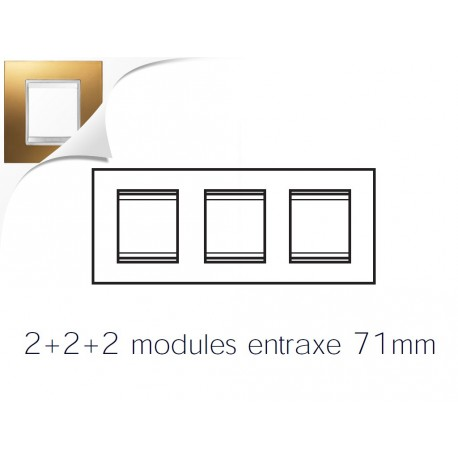 Plaque lux 6m 2+2+2 horizontal or Gewiss chorus
