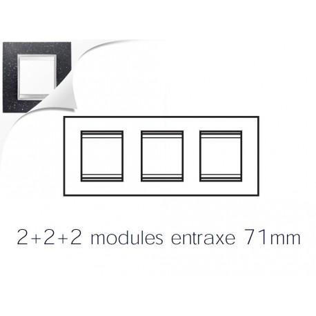 Plaque lux 6m 2+2+2 horizontal pierre lave Gewiss chorus