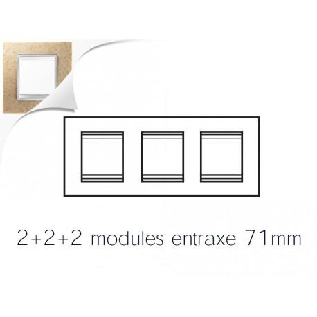 Plaque lux 6m 2+2+2 horizontal pierre sable Gewiss chorus