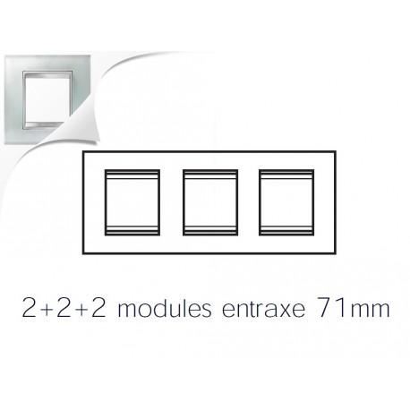 Plaque lux 6m 2+2+2 horizontal verre glace Gewiss chorus