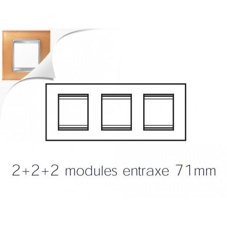 Plaque lux 6m 2+2+2 horizontal verre ocre Gewiss chorus