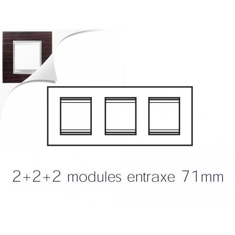 Plaque lux 6m 2+2+2 horizontal wengue Gewiss chorus
