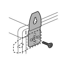 pattes de fixation murale metal 4 pour coffrets et armoires ip 43