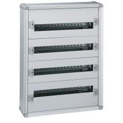 coffret distribution metal xl 160 tout modulaire 4 rangees 750x575x147