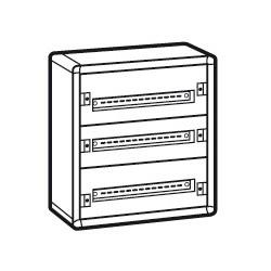coffret distribution metal xl 160 tout modulaire 3 rangees 600x575x147