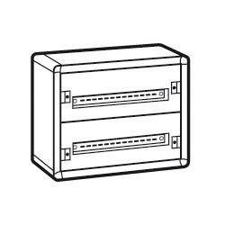 coffret distribution metal xl 160 tout modulaire 2 rangees 450x575x147