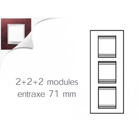 Plaque lux 6m 2+2+2 vertical cuir rubis Gewiss chorus