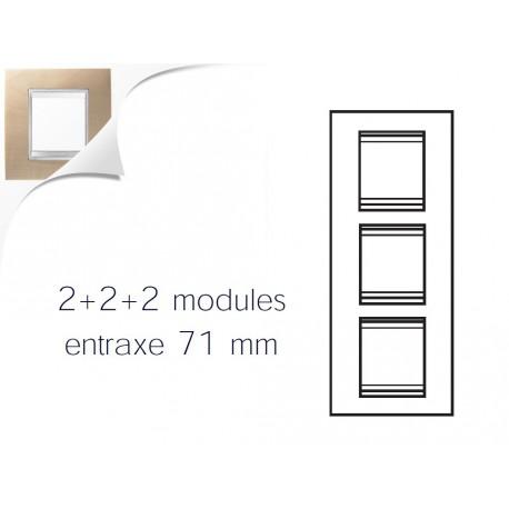 Plaque lux 6m 2+2+2 vertical erable Gewiss chorus