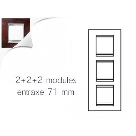 Plaque lux 6m 2+2+2 vertical fer oxyde Gewiss chorus