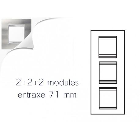 Plaque lux 6m 2+2+2 vertical inox brosse Gewiss chorus