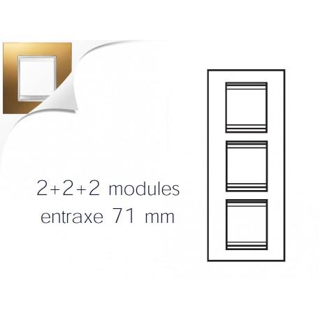 Plaque lux 6m 2+2+2 vertical or Gewiss chorus