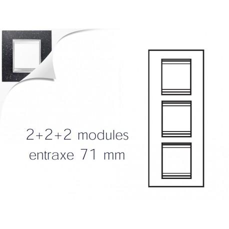 Plaque lux 6m 2+2+2 vertical pierre lave Gewiss chorus