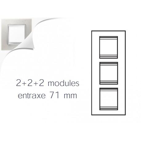 Plaque lux 6m 2+2+2 vertical pierre lune Gewiss chorus