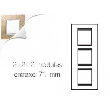 Plaque lux 6m 2+2+2 vertical pierre sable Gewiss chorus