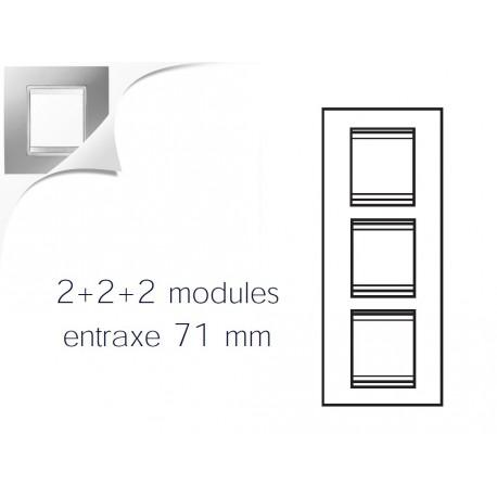 Plaque lux 6m 2+2+2 vertical titane Gewiss chorus