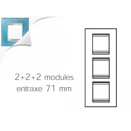 Plaque lux 6m 2+2+2 vertical verre aigue marine Gewiss chorus