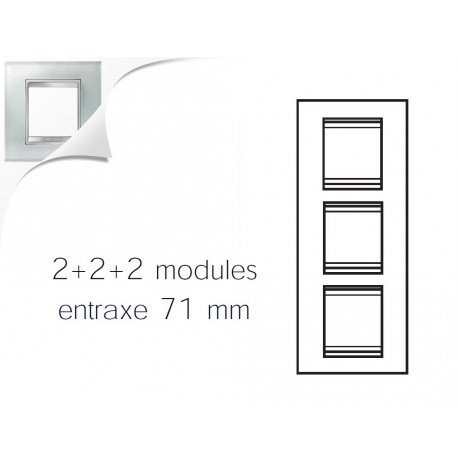 Plaque lux 6m 2+2+2 vertical verre glace Gewiss chorus