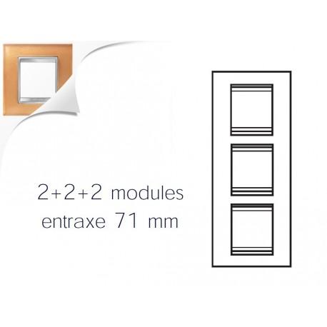 Plaque lux 6m 2+2+2 vertical verre ocre Gewiss chorus