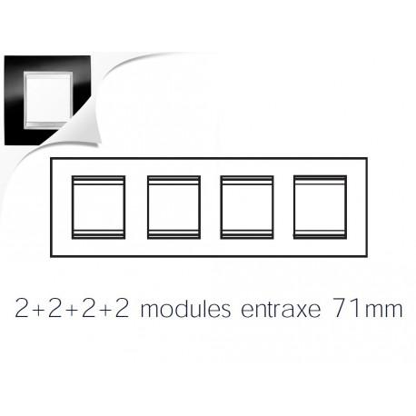 Plaque lux 8m 2+2+2+2 horizontal ardoise Gewiss chorus