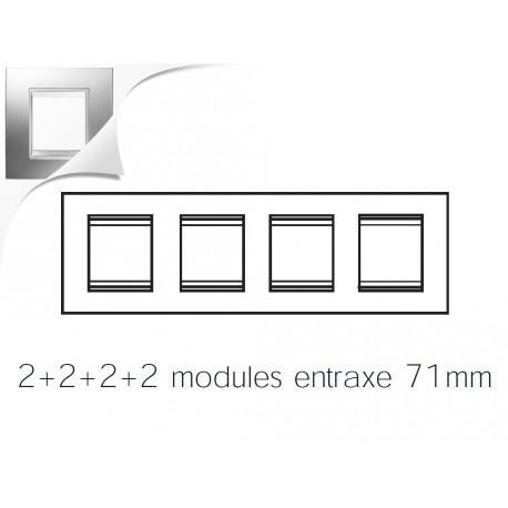 Plaque lux 8m 2+2+2+2 horizontal chrome Gewiss chorus