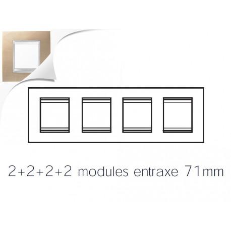 Plaque lux 8m 2+2+2+2 horizontal erable Gewiss chorus