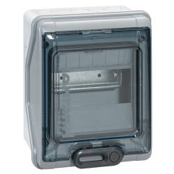 coffret plexo 6 modules avec embouts a perf directe ip 65 ik 09 gris