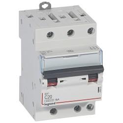 disjoncteur dx 4500 vis vis 3p 400 v 20a 6ka courbe c 1 mod
