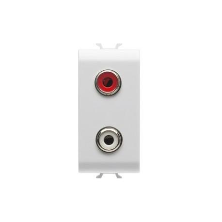 Connecteur double rca 1m blanc Gewiss chorus