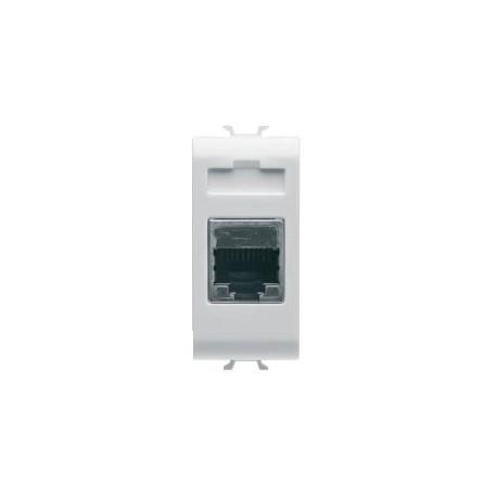 Connecteur rj45 1m cat 5 ftp blanc Gewiss chorus