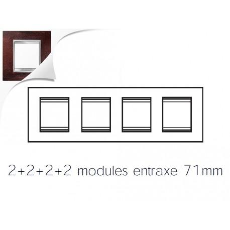 Plaque lux 8m 2+2+2+2 horizontal fer oxyde Gewiss chorus