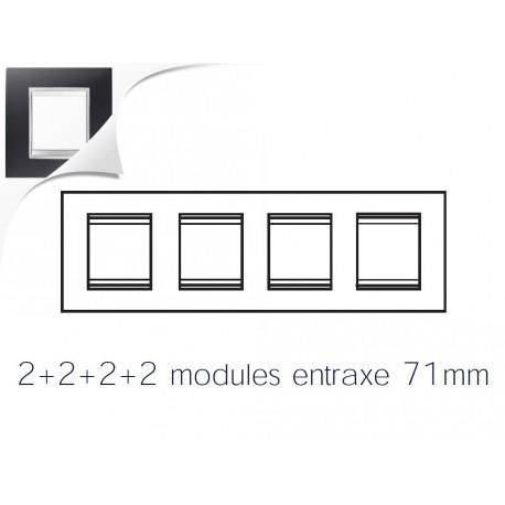 Plaque lux 8m 2+2+2+2 horizontal noir toner Gewiss chorus