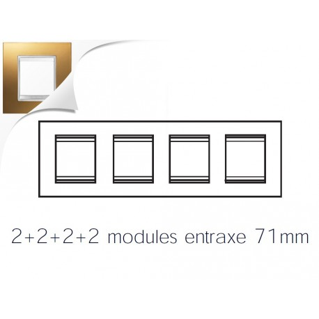 Plaque lux 8m 2+2+2+2 horizontal or Gewiss chorus