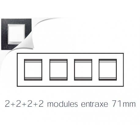 Plaque lux 8m 2+2+2+2 horizontal pierre lave Gewiss chorus