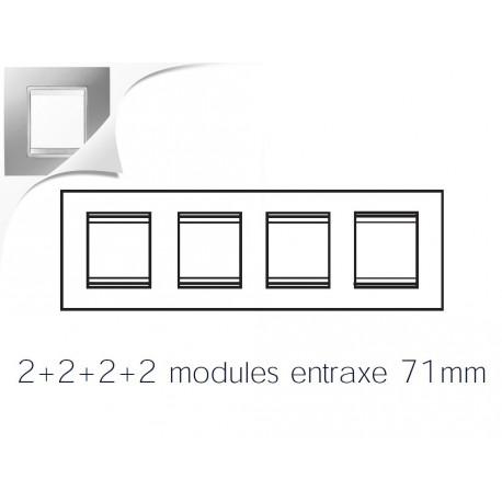 Plaque lux 8m 2+2+2+2 horizontal titane Gewiss chorus